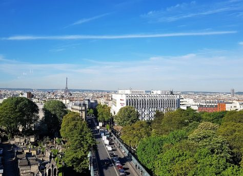 Paris, vue, hotel