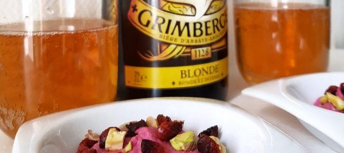 Bière et plat en accord avec Grimbergen